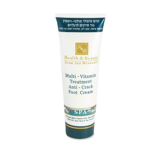 Мультивитаминный крем для ног, против трещин Health & Beauty (Хэлс энд Бьюти) 250 мл