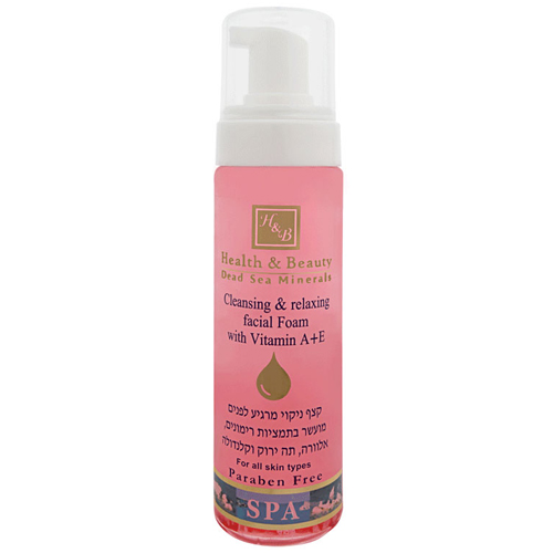 Очищающий и расслабляющий мусс для лица с витаминами А и Е Health & Beauty (Хелф энд Бьюти) 225 мл