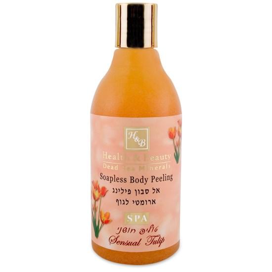 Увлажняющий жидкий скраб для тела Тюльпан Health & Beauty (Хэлс энд Бьюти) 300 мл
