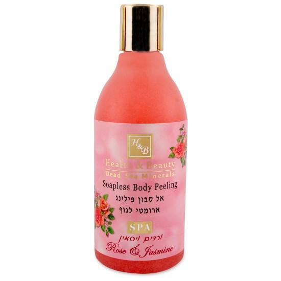Увлажняющий жидкий скраб для тела Роза и Жасмин Health & Beauty (Хэлс энд Бьюти) 300 мл