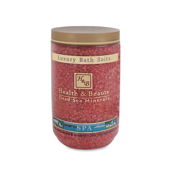 Соль Мертвого моря для ванны Роза Health & Beauty (Хэлс энд Бьюти) 1200 г