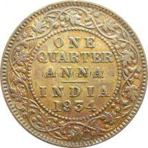 Индия 1/4 анны 1934 г.