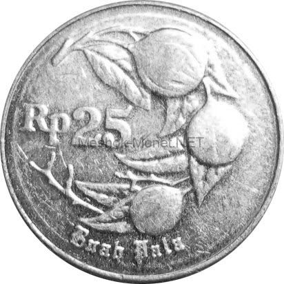 Индонезия 25 рупий 1991 г.