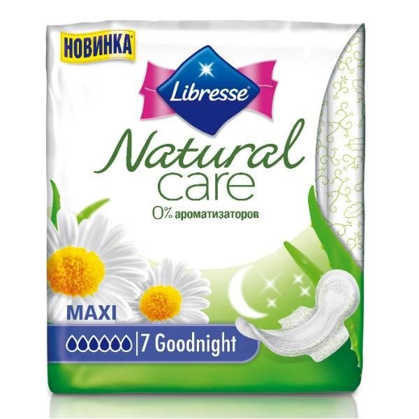 Прокладки Libresse Natural Care Maxi Goodnight 7шт