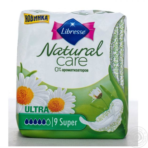 Прокладки Libresse Natural Care Ultra Super 9шт