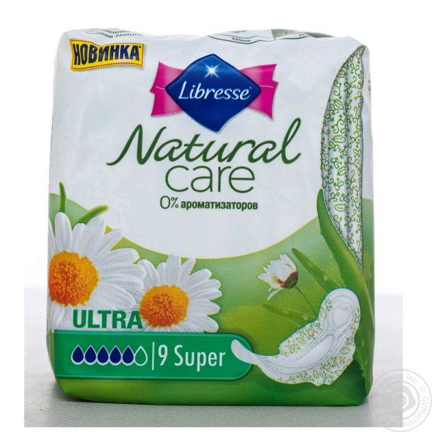 Прокладки Libresse Natural Care Ultra Super 9шт