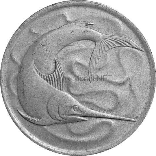 Сингапур 20 центов 1972 г.