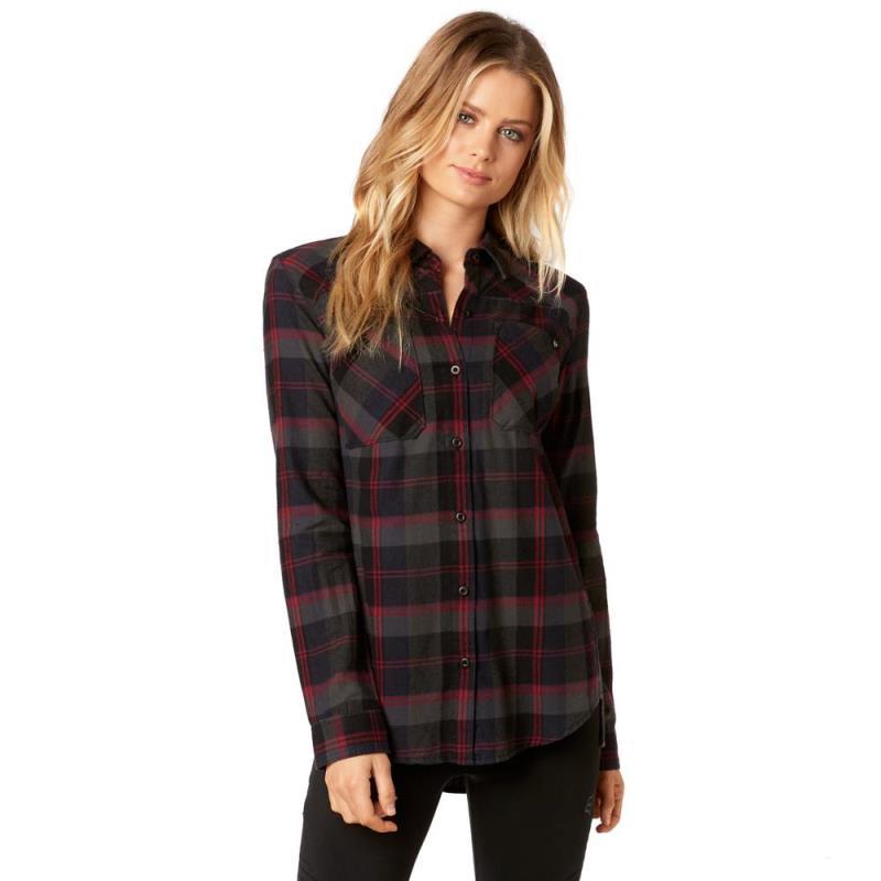 Fox - Flown Flannel Midnight рубашка женская, синяя