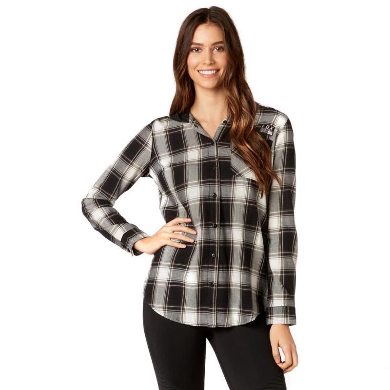 Fox - Deny Flannel Black рубашка женская, черная
