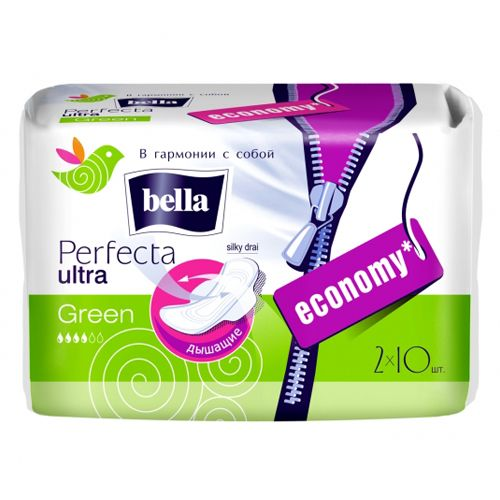 Прокладки Белла Perfecta Ultra Green 20 шт супертонкие сверхпрочные
