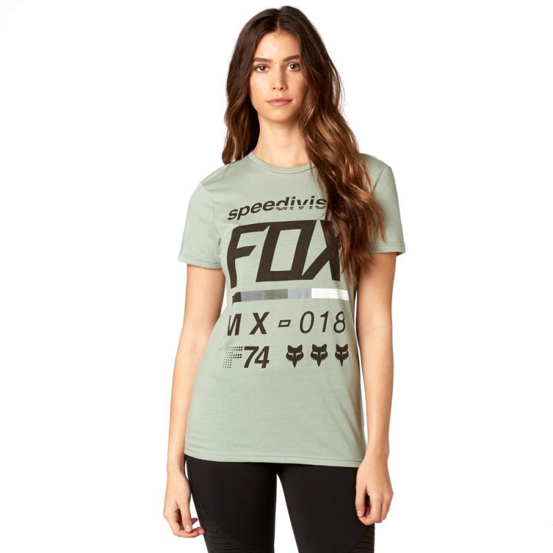 Fox - Draftr SS Crew Tee Sage футболка женская, зеленая