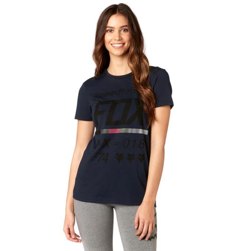 Fox - Draftr SS Crew Tee Midnight футболка женская, синяя
