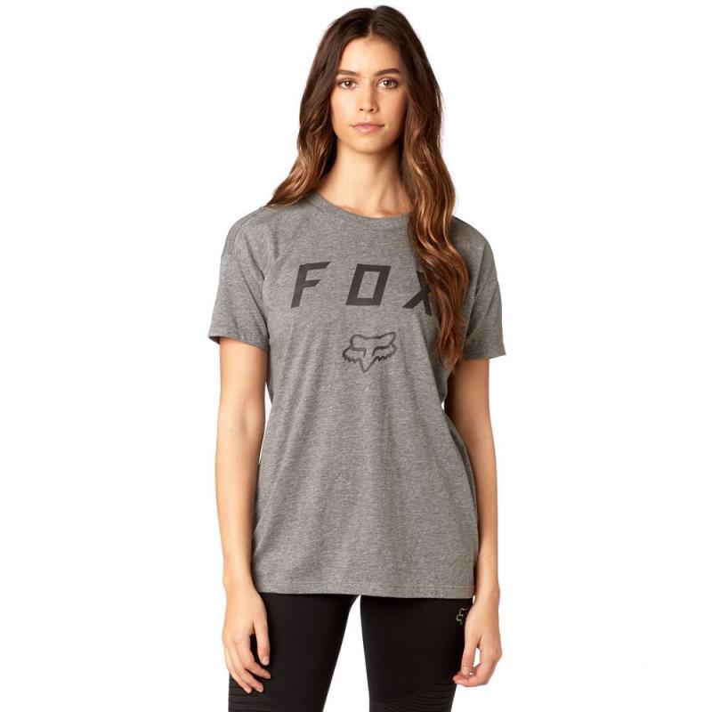 Fox - District SS Crew Heather Grey футболка женская, серая