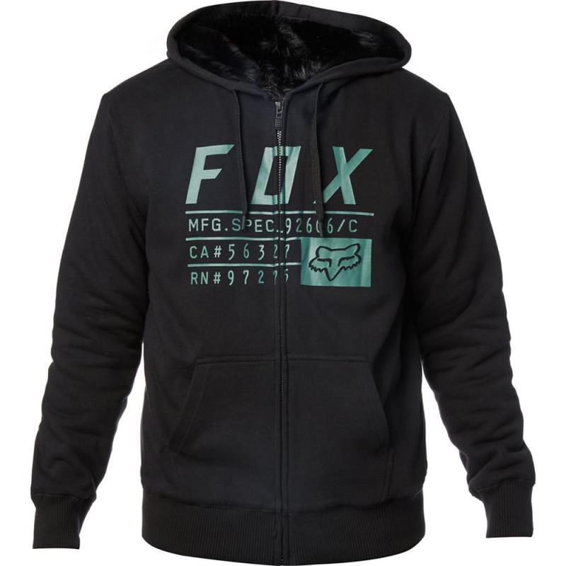 Fox - Compliance Sasquatch Black толстовка на меху, черная