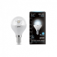 Лампа Gauss LED Globe E14 4W 4100K