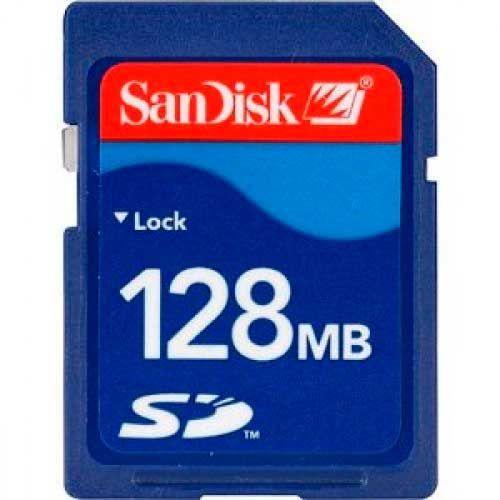 Карта памяти SD: Объем памяти: 128Mb