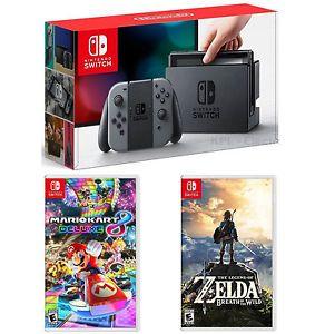 Игровая приставка Nintendo Switch (Grey) + Mario Kart 8 + The Legend of Zelda