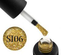 Гель-лак Naomi Self Illuminated SI 06 (желтое золото с блестками и слюдой), 6 мл