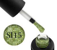 Гель-лак Naomi Self Illuminated SI 15 (салатовый с блестками и слюдой), 6 мл