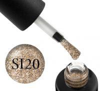Гель-лак Naomi Self Illuminated SI 20 (бронзово-золотистый с блестками и слюдой), 6 мл