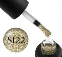 Гель-лак Naomi Self Illuminated SI 22 (золотой с блестками и слюдой), 6 мл