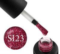 Гель-лак Naomi Self Illuminated SI 23 (вишнево-красный с блестками и слюдой), 6 мл