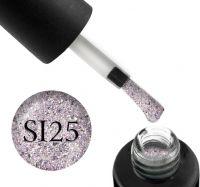 Гель-лак Naomi Self Illuminated SI 25 (лиловое серебро с блестками и слюдой), 6 мл