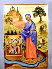 Пюхтицкая икона БМ (икона на дереве)