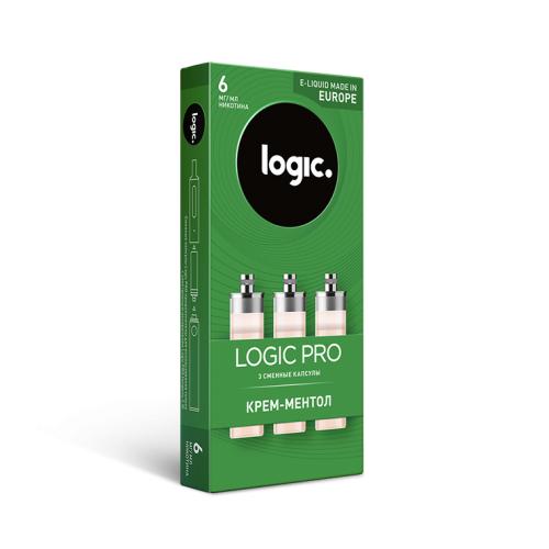 Сменные капсулы Logic Pro Крем-Ментол