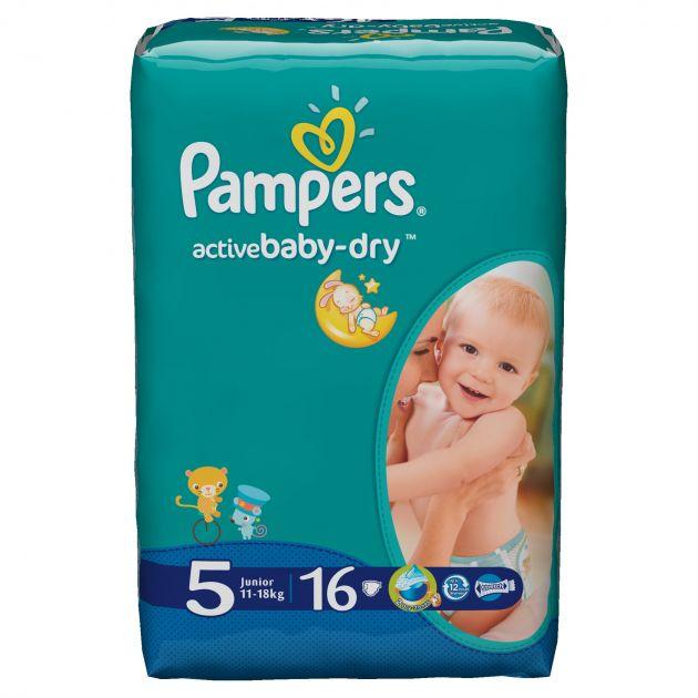 Подгузники Памперс Active Baby Junior 16