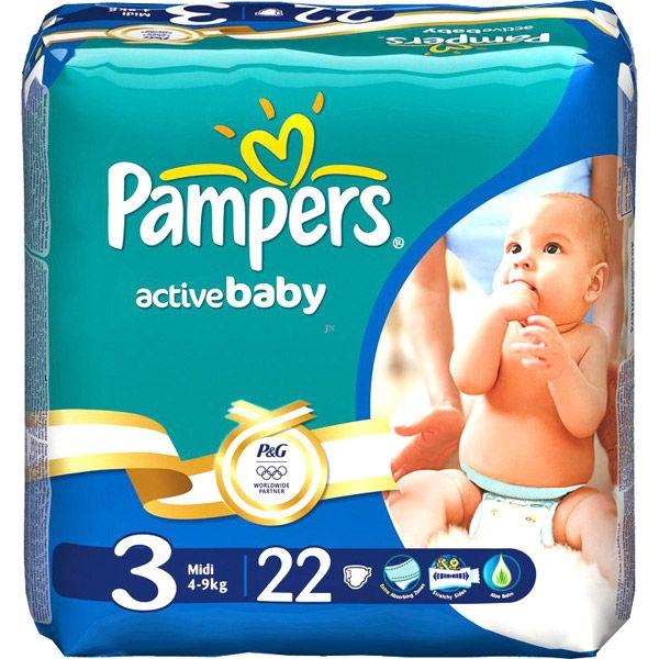 Подгузники Памперс Active baby Midi 22