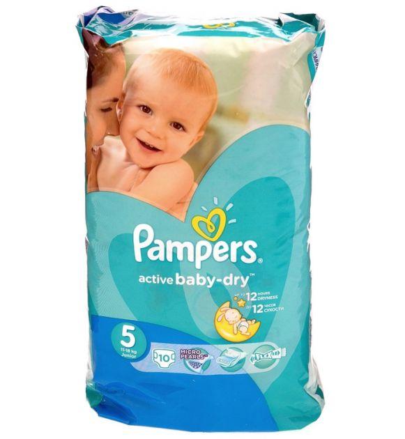 Подгузники Памперс Active Baby-Dry Junior Микро 10шт *