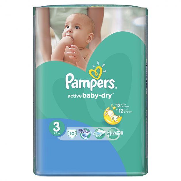 Подгузники Памперс Active Baby-Dry Midi Микро 10шт