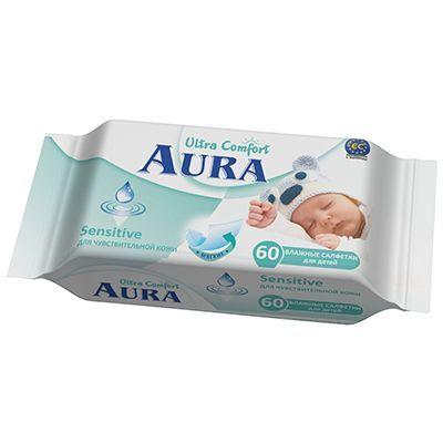 Салфетки влажные Аура 60шт детские Ultra Сomfort