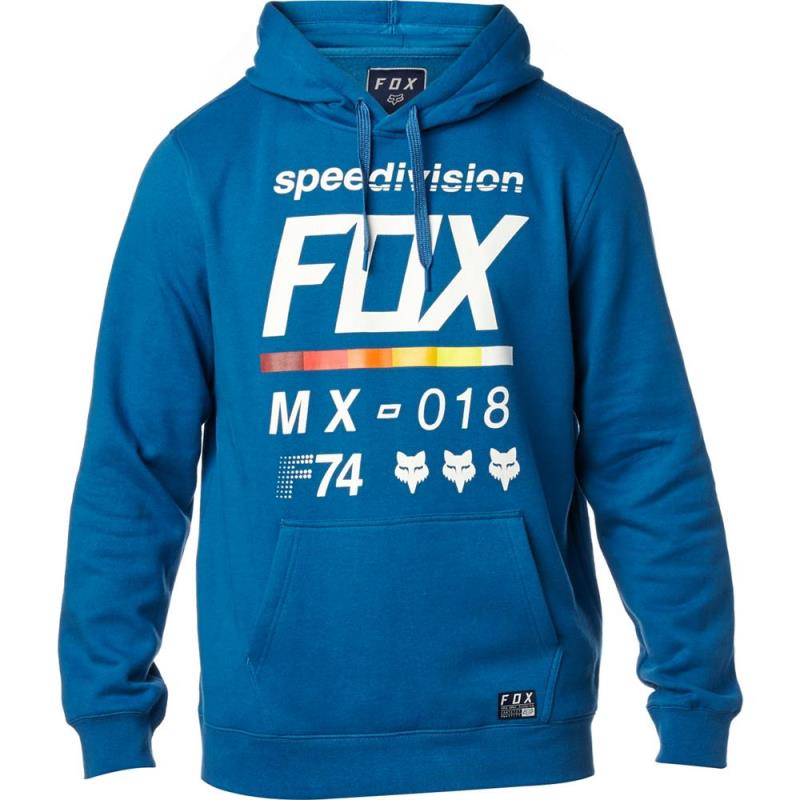 Fox - District 2 Pullover Fleece Dust Blue толстовка, синяя