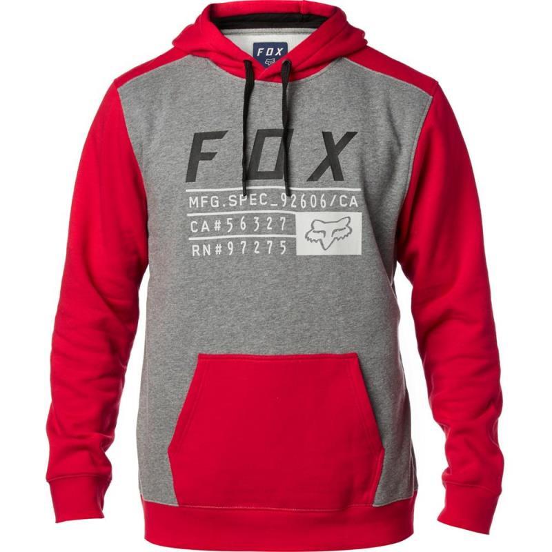 Fox - District 3 Pullover Fleece Dark Red толстовка, красная