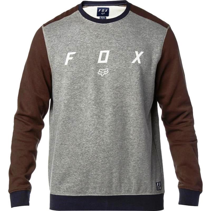 Fox - District Crew Fleece Heather Graphite свитшот, серый