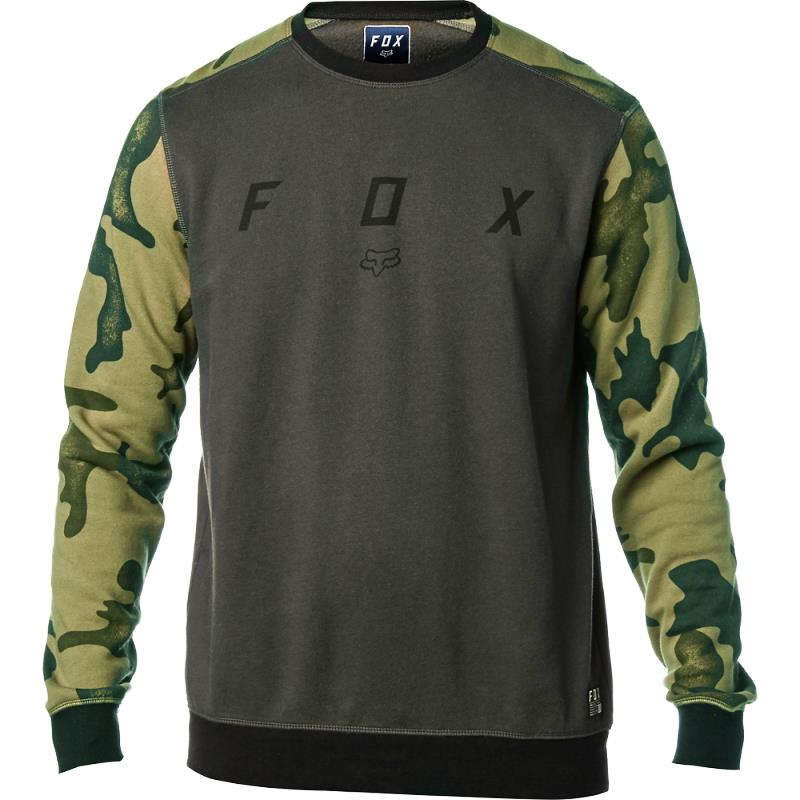 Fox - District Crew Fleece Black Vintage свитшот, черный