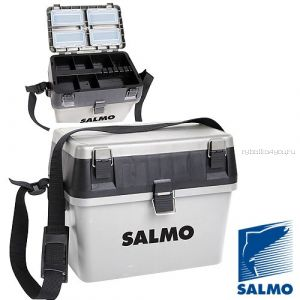 Ящик рыболовный зимний Salmo 2-х ярус.(из 2-х частей) пласт. 38x24.5x29см сер. арт 2070
