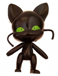 Фигурка Плагг - квами черный кот  + фигурка героя из м/ф Леди Баг и супер Кот