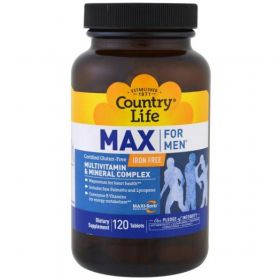 Country Life Max for Men Multivitamin & Mineral Iron-Free (120 капс.)
