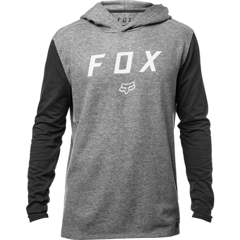 Fox - Tranzit Hooded LS Knit Heather Graphite толстовка, серая