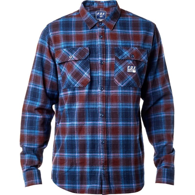Fox - Traildust Flannel Midnight рубашка, синяя