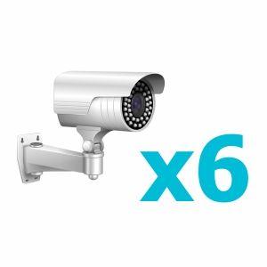 Комплект видеонаблюдения для 6 камеры