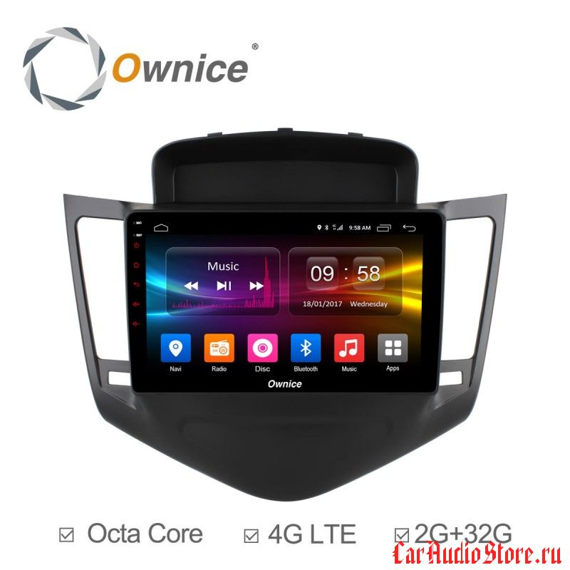 Ownice C500+ S9222P для Chevrolet Cruze, 2009 (Android 6.0)