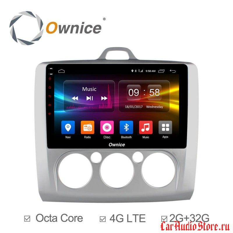 Ownice C500+ S9201P-M для Ford Focus 2 (Android 6.0)