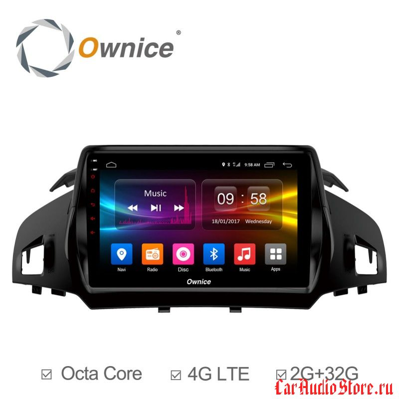 Ownice C500+ S9203P для Ford Kuga (Android 6.0)