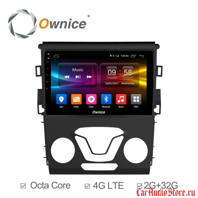 Ownice C500+ S9205P для Ford Mondeo 5 (Android 6.0)