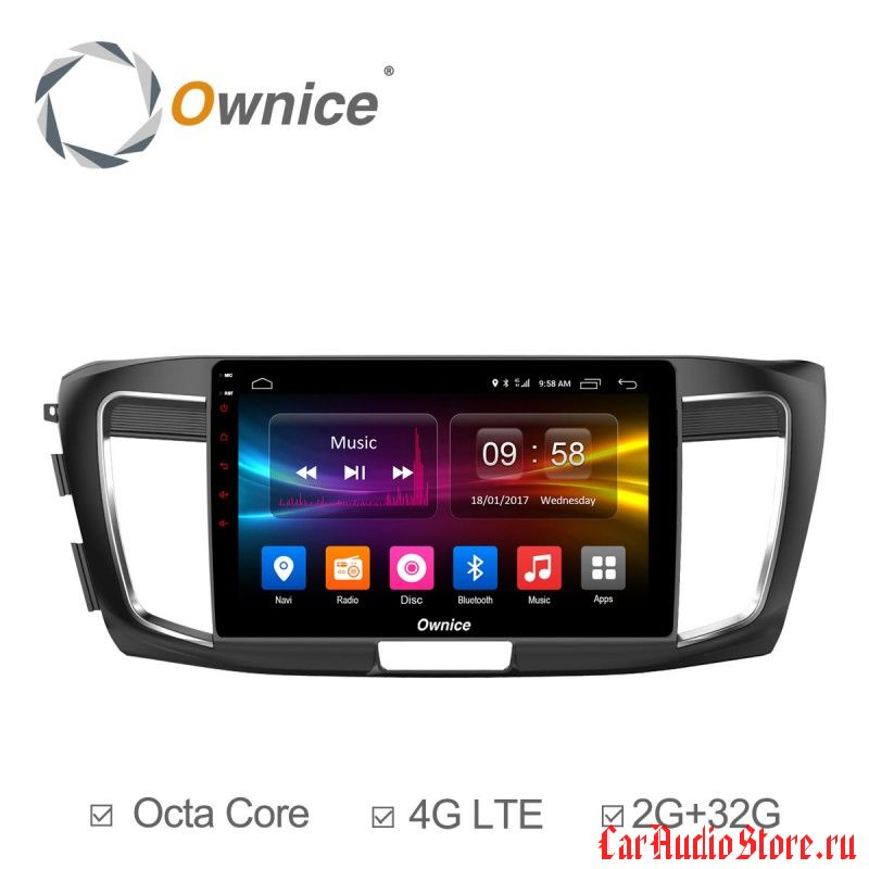 Ownice C500+ S1642P для Honda Accord 9 (Android 6.0)