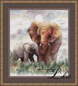 "Cross stotch design ""Elephants""."